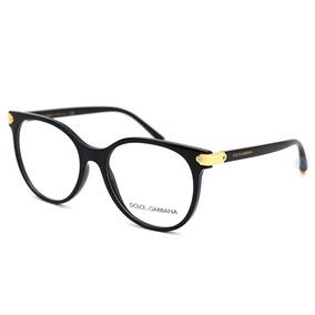 47ab028593 Lentes Dolce Gabbana 5032 501 Polished Black /gold Oftalmico