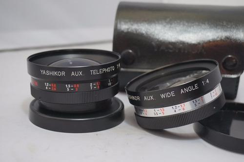 lentes atornillados de 55mm angular y telefoto x4 yashica