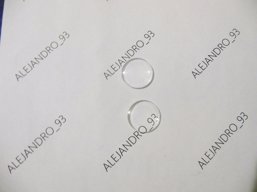 lentes biconvexos 25m f- 45mm google cardboard - 50 unidades