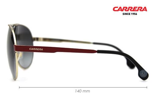 lentes carrera 1005s au2 red gold aviador original nuevo msi