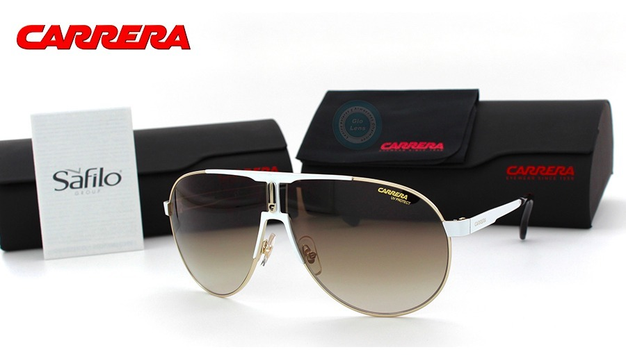 lentes carrera aviador 1005s b4e white gold brown gradient. Cargando zoom. 6bea17b5379d