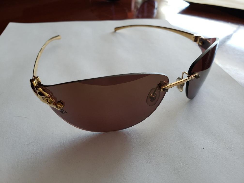 83d6388adca28 lentes cartier panthere dorados originales. Cargando zoom.