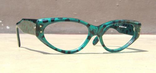 lentes cat eye vintage ugo dalessio, gafas retro gato, print