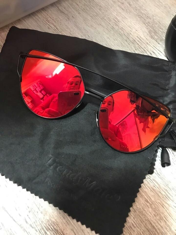 3eb1fe6f10 Lentes Cat Eyes Espejados Rojos - S/ 33,00 en Mercado Libre