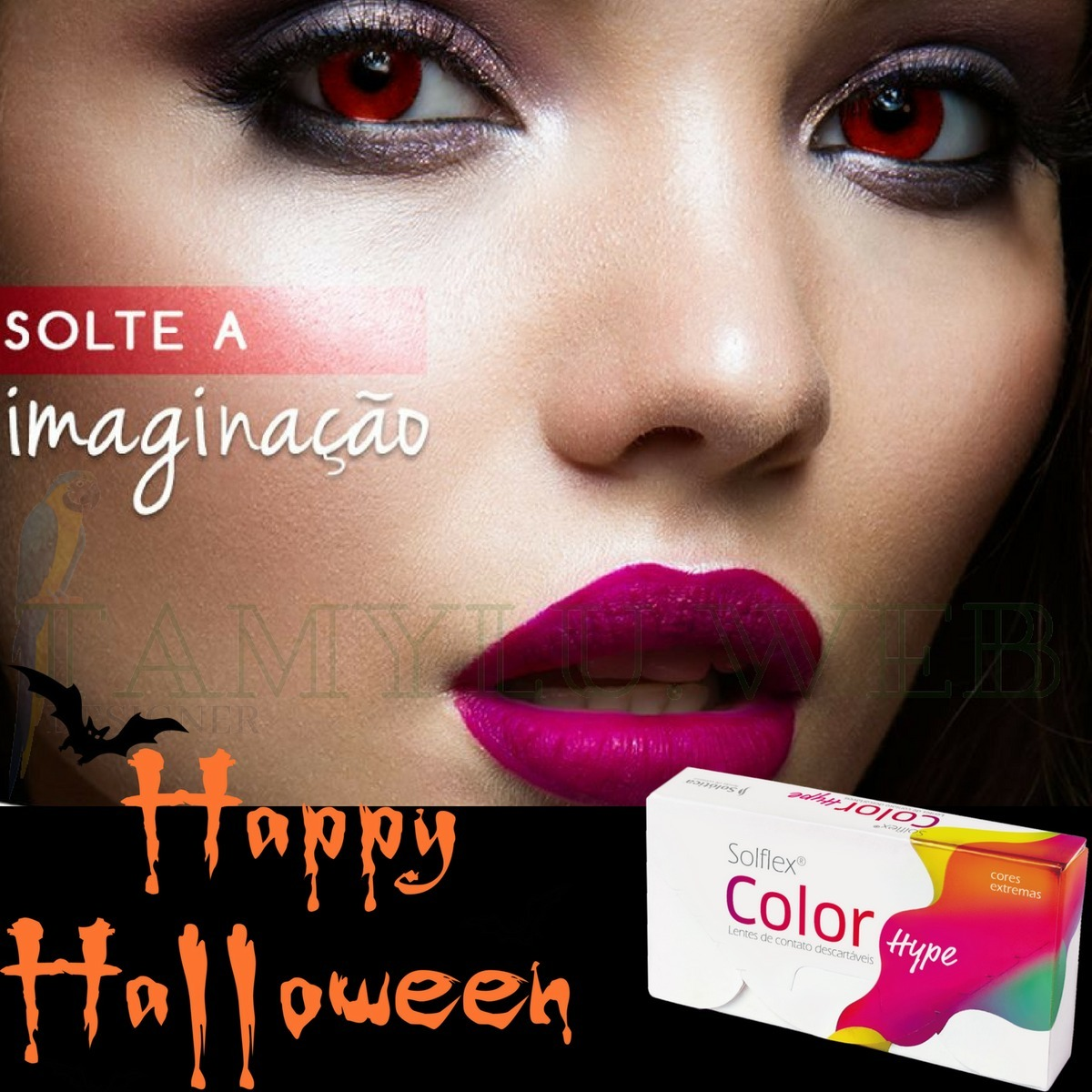 5a591bf49a46e lentes colorida branca amarela vermelha color hype halloween. Carregando  zoom.