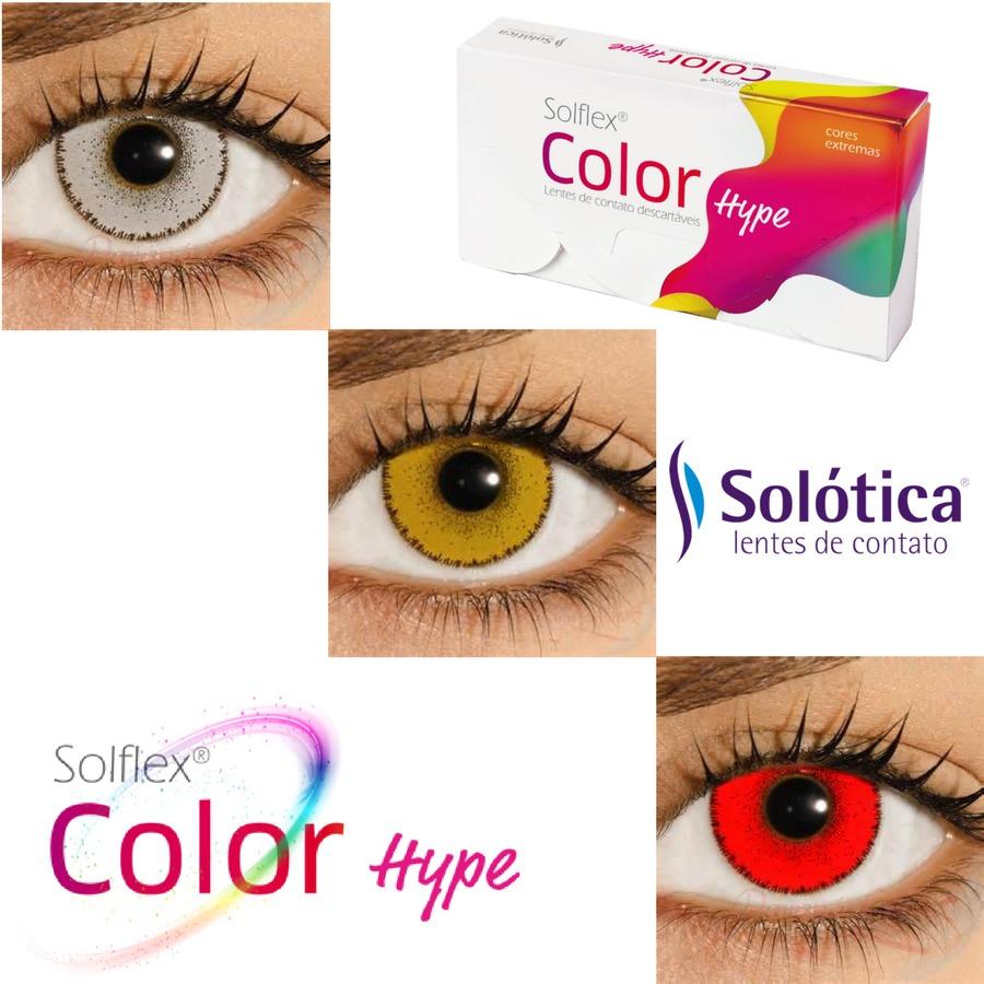 8c8b0f3d5b9b3 Lentes Coloridas Branca Vermelha Amarela Solflex Color Hype - R  68 ...