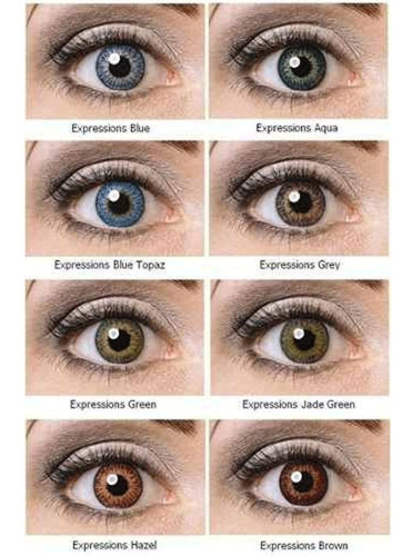 lentes contacto cosmeticas neutras tricolor expression color