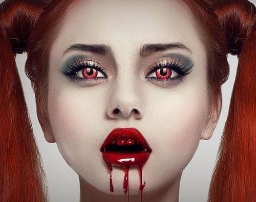 lentes contacto zombi manson halloween anime dizfras envio