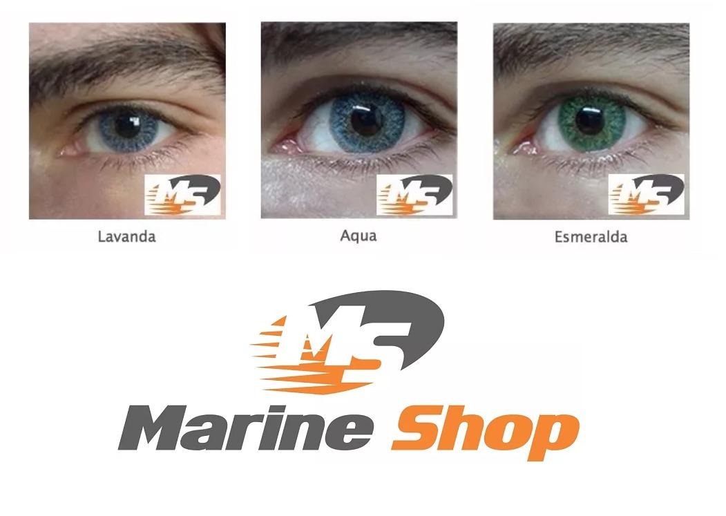 10 Lentes De Contato Color Vision Verde, Azul, Cinza, Mel + - R  287 ... bf4843a85b