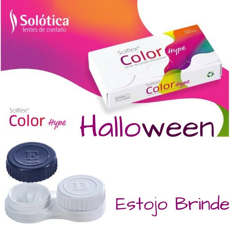 9cb1542f6fc74 Lentes De Contato Cosplay Color Hype Halloween - R  98
