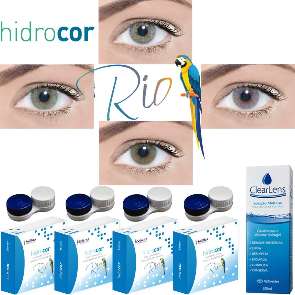 046710cda1 Lentes Contato Colorida Hidrocor Rio Lançamento Kit 4 Pares - R$ 395 ...