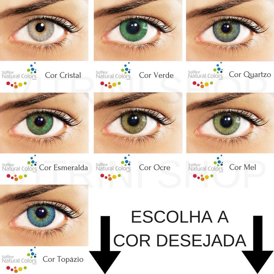 9f42abd89fc3b Lentes De Contato Gelatinosa Coloridas Solflex Promoção - R  54