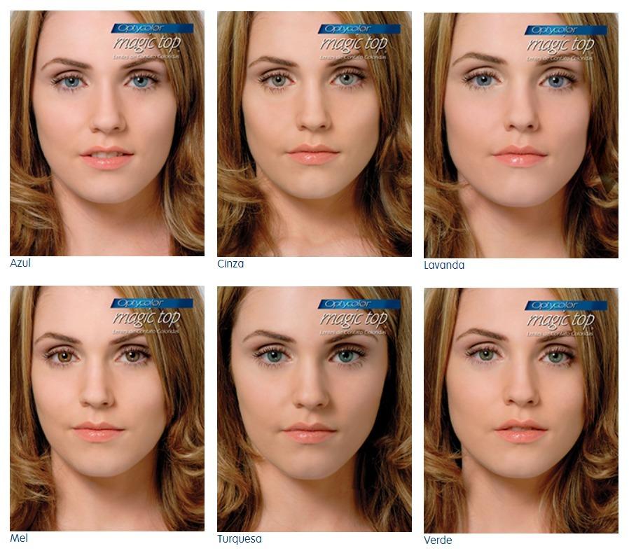 8b4aeb8c9 lentes de contato coloridas magic top - anual promoção 1 par. 7 Fotos