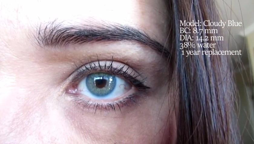 fef12f3f734c6 Lentes Contato Melhor Que Aqua Blue Urban Layer Cloud Blue - R  119 ...