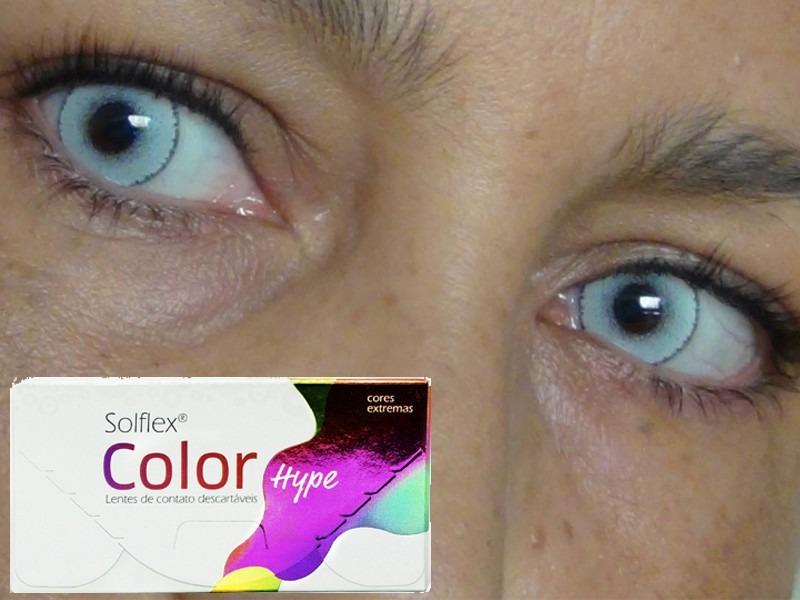 7fda688c8b8d5 Lentes De Contato Solflex Colors Hype - Sem Grau - R  75