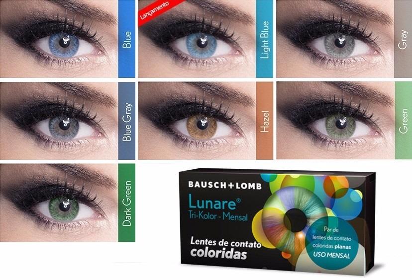 4e4b331dc30bf Lentes De Contato Lunare Mensal Sem Grau + Estojo - R  150