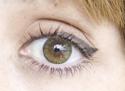 lentes de contacto adore bi yellow lente para ojo oscuro