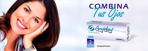 lentes de contacto anyday cosméticos color gris