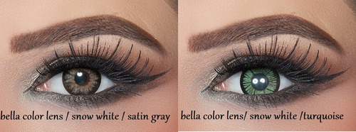 lentes de contacto bella color lens snow white  collection