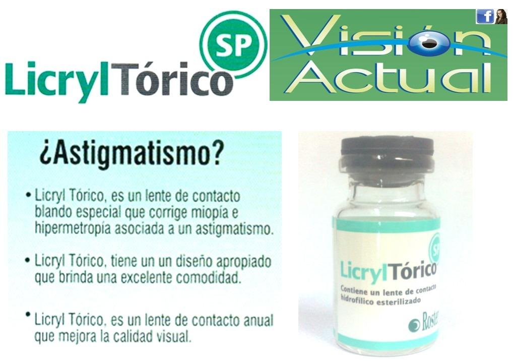 d997e0dec4 Lentes De Contacto Blandos Licryl Toricos Anuales - S/ 300,00 en ...