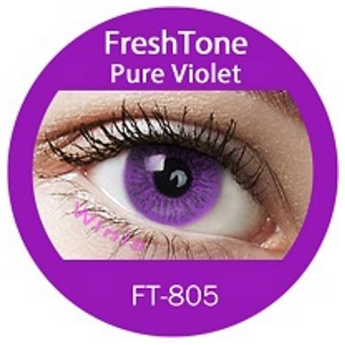 lentes de contacto freshtone ft-805 pureviolet  x1 par