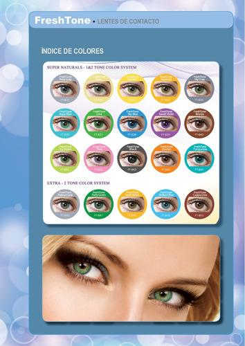 lentes de contacto freshtone promo x4  elegi colores