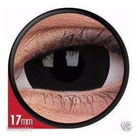 Lentes De Contacto Mini Sclera Black (negros) 17mm
