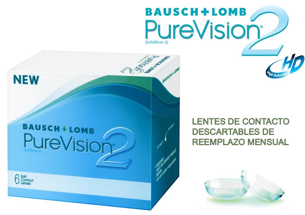 ec5ad7d4b2 Lentes De Contacto Pure Visión 2 Hidrogel De Silicona - S/ 160,00 en ...