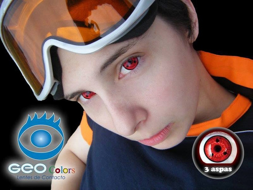 lentes de contacto sharingan 3 aspas clan uchiha