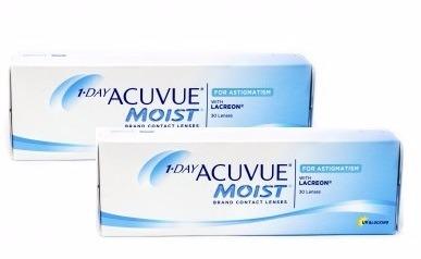 9d2b9201c Lentes De Contato Acuvue 1 Day Moist Astigmatismo - 2 Caixas - R ...