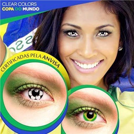 4e09e42e081dc Lentes De Contato Clear Colors Mensal - Bandeira Brasil - R  69