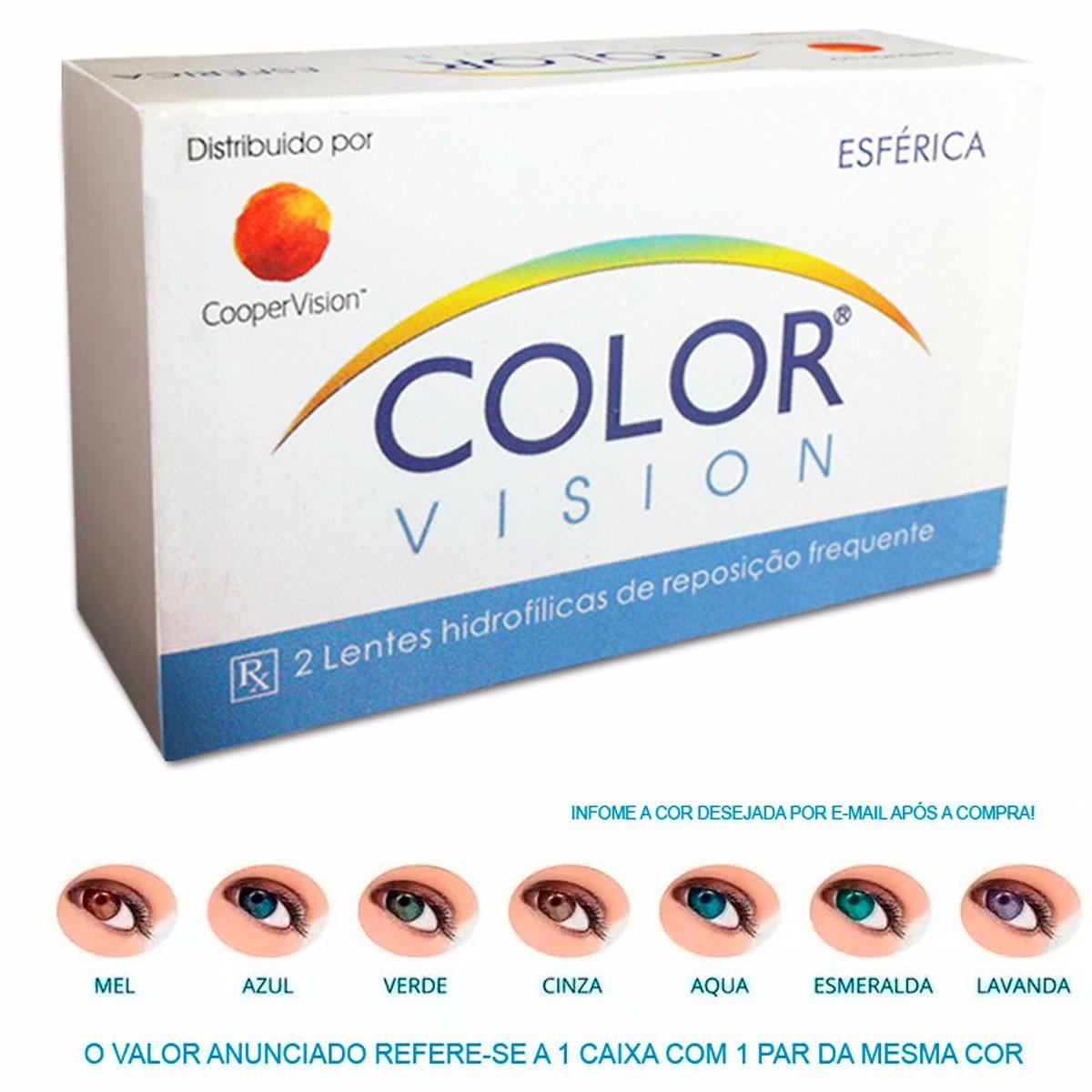 cce2ed26b2189 Lentes De Contato Colorida Color Vision - Azul - R  49,50 em Mercado ...