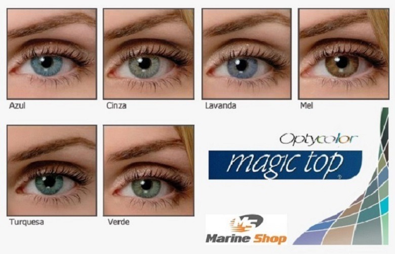 e3f760c8fc303 Lentes De Contato Colorida Magic Top Anual - Com Ou Sem Grau - R  149