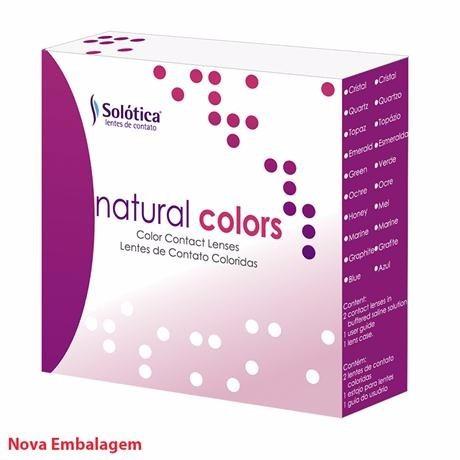 lentes de contato colorida natural colors anual + estojo