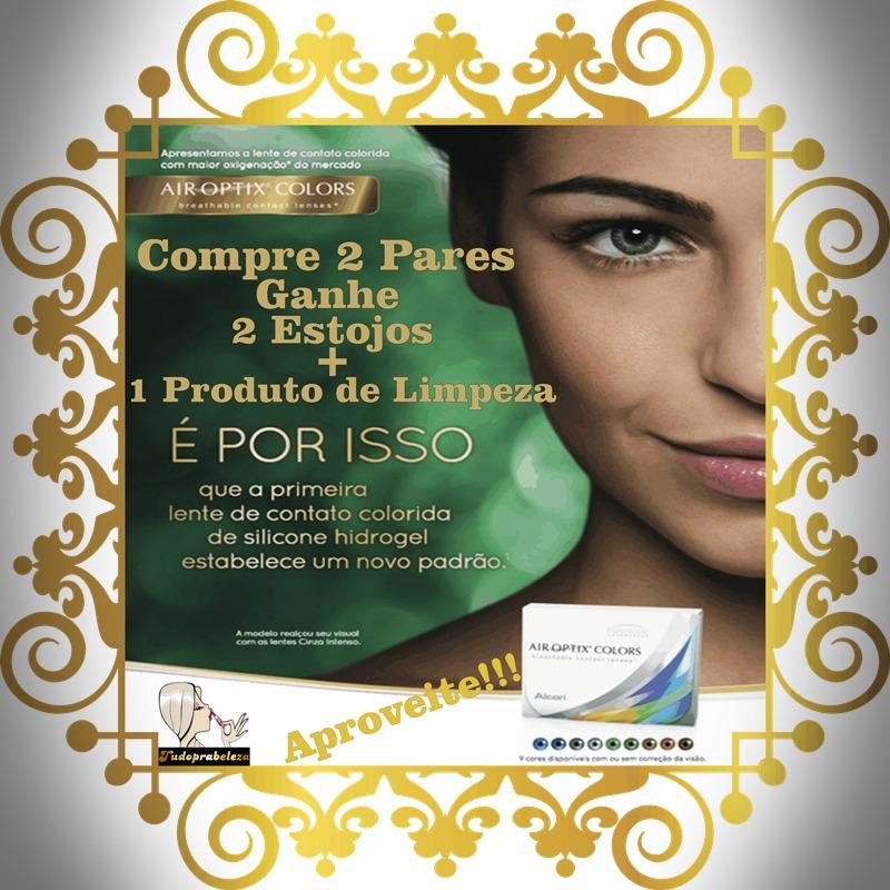 3df2b55bb5354 Lentes De Contato Coloridas Air Optix Colors Mensal + Brinde - R  99 ...