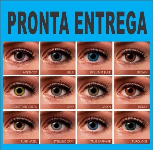 a3f60f960f118 Lentes De Contato Coloridas Anual Sem Grau + Estojo Promoção - R  54 ...