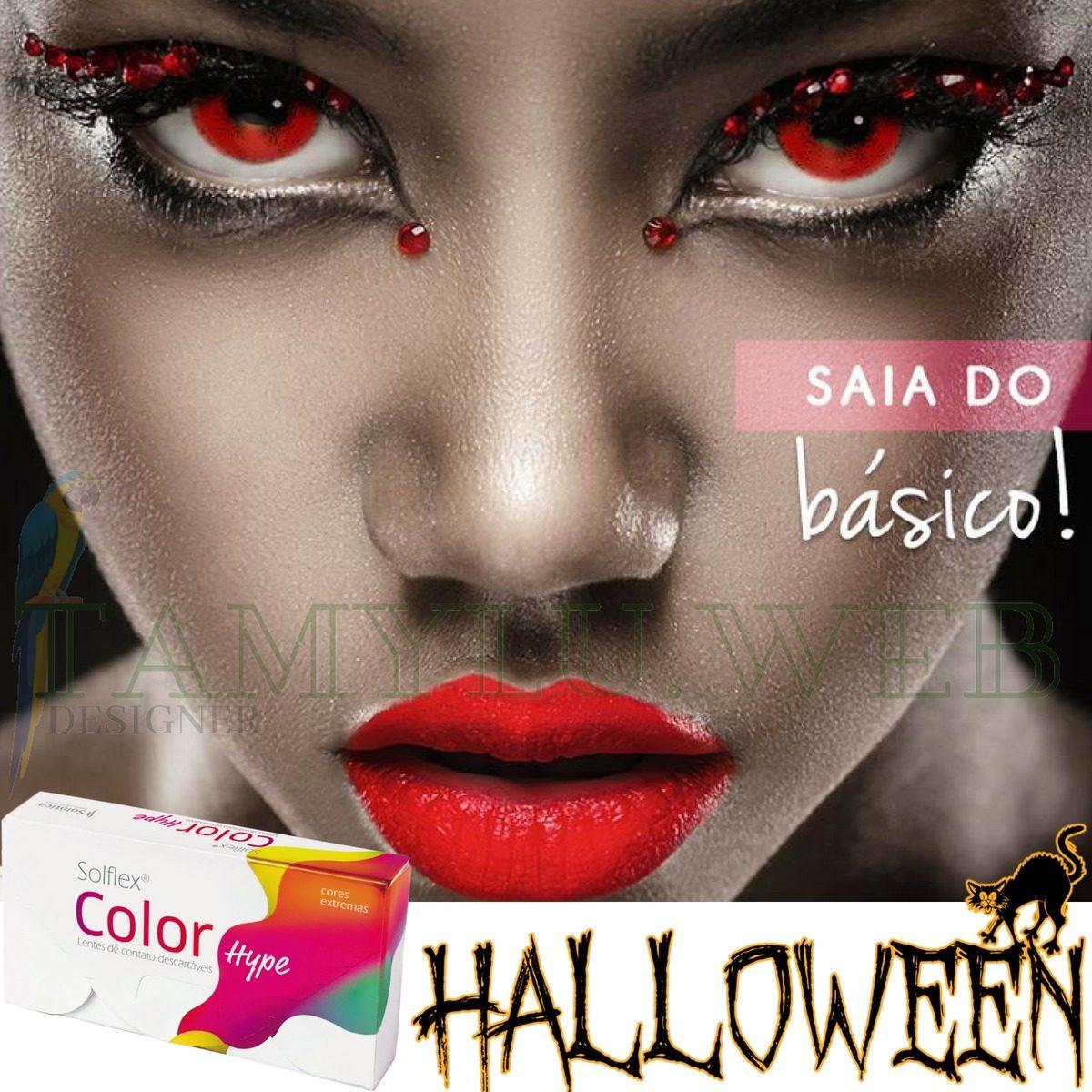 c272736ed9734 lentes de contato coloridas solflex color hype halloween. Carregando zoom.