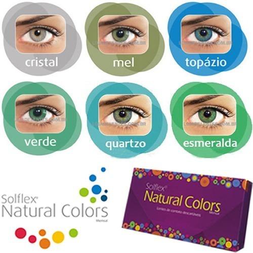 Lentes De Contato Coloridas Solotica Solflex Natural Colors - R  64 ... ec8a2d0aba