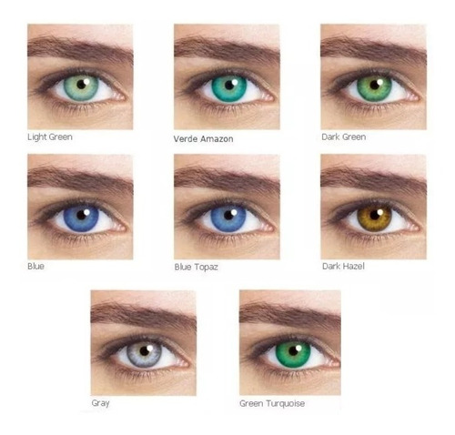 lentes de contato coloridas star colors + estojo / bausch