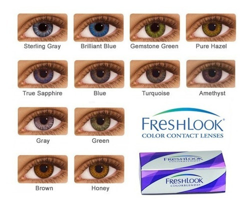 lentes de contato freshlook colorblends - colorida original