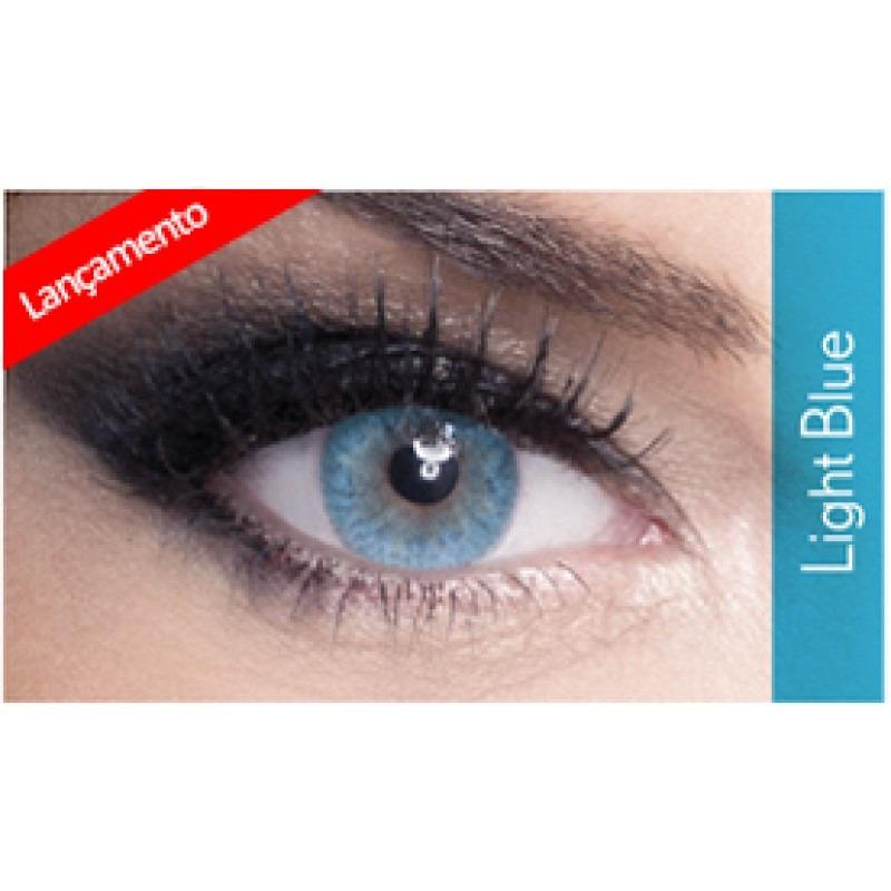 7873b840545a4 Lentes De Contato Lunare Lançamento Light Blue Anual - R  185