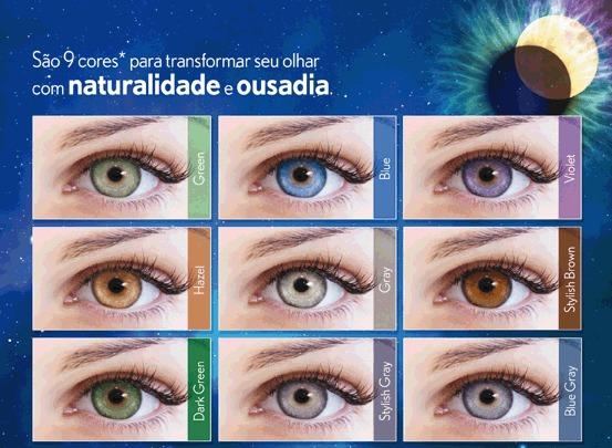 2179be349a691 Lentes De Contato Lunare Tri-kolor Anual Bausch Lomb C  Grau - R  350
