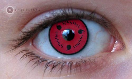 lentes de contato - naruto - cosplay - fantasias