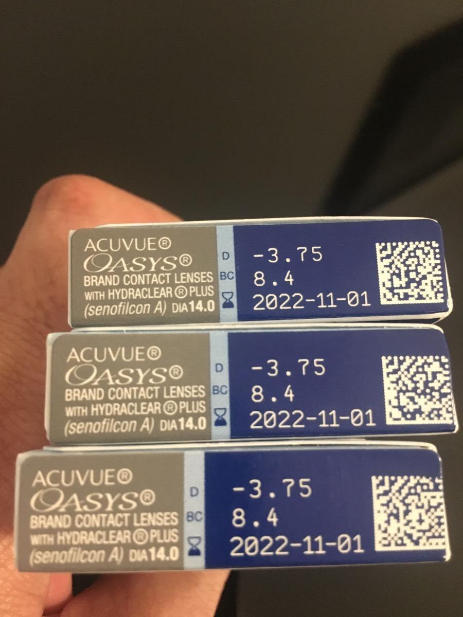 Lentes De Contato Oasys Johnson - 3 Caixas (-3.75 Esf.) - R  259,90 em  Mercado Livre e4f9b82ecc