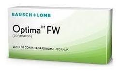 lentes de contato optima fw - uso anual - estojo grátis!