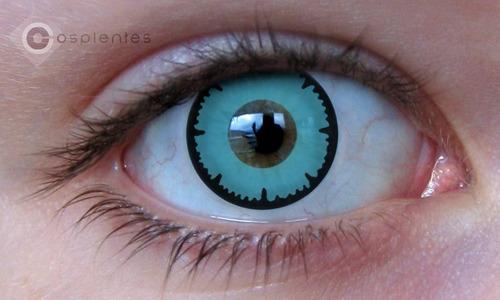 lentes de contato - poseidon - azul - anime - fantasias