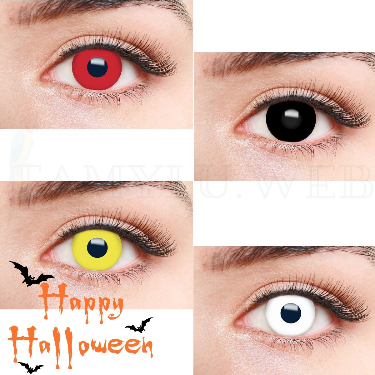 lentes de contato preta fantasy halloween natural vision. Carregando zoom. 224fbc5914