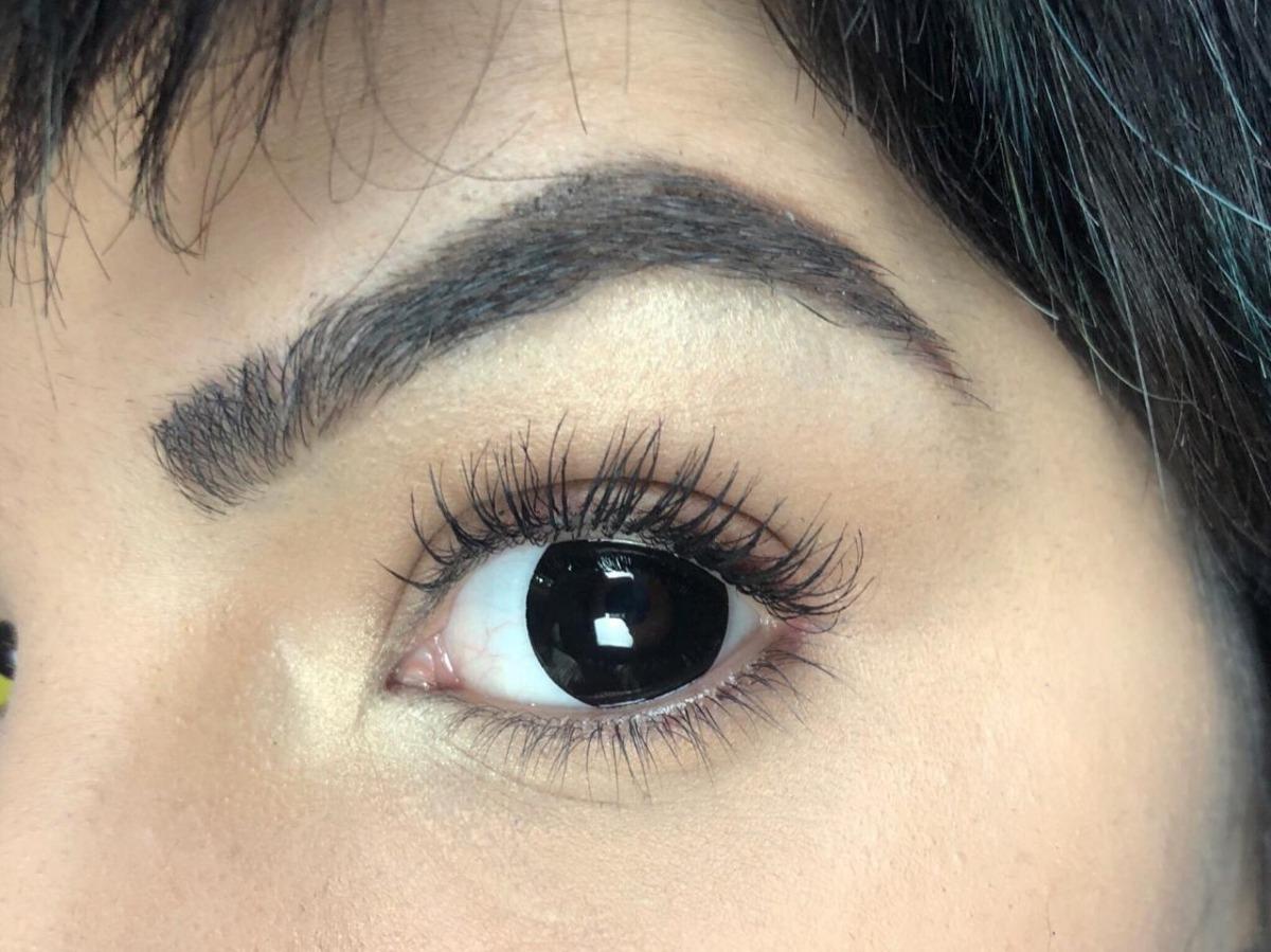6fa9b31ac5caa lentes de contato preta halloween fantasy - melhor preço. Carregando zoom.