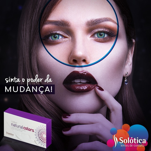 lentes de contato solflex natural colors - com ou sem grau