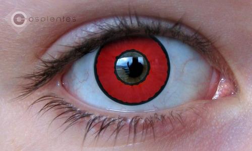 lentes de contato - voldemort - vemelha - fantasias - evento